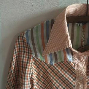 Mixed pattern vintage western shirt